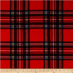 WinterFleece Stewart Plaid Red Fabric