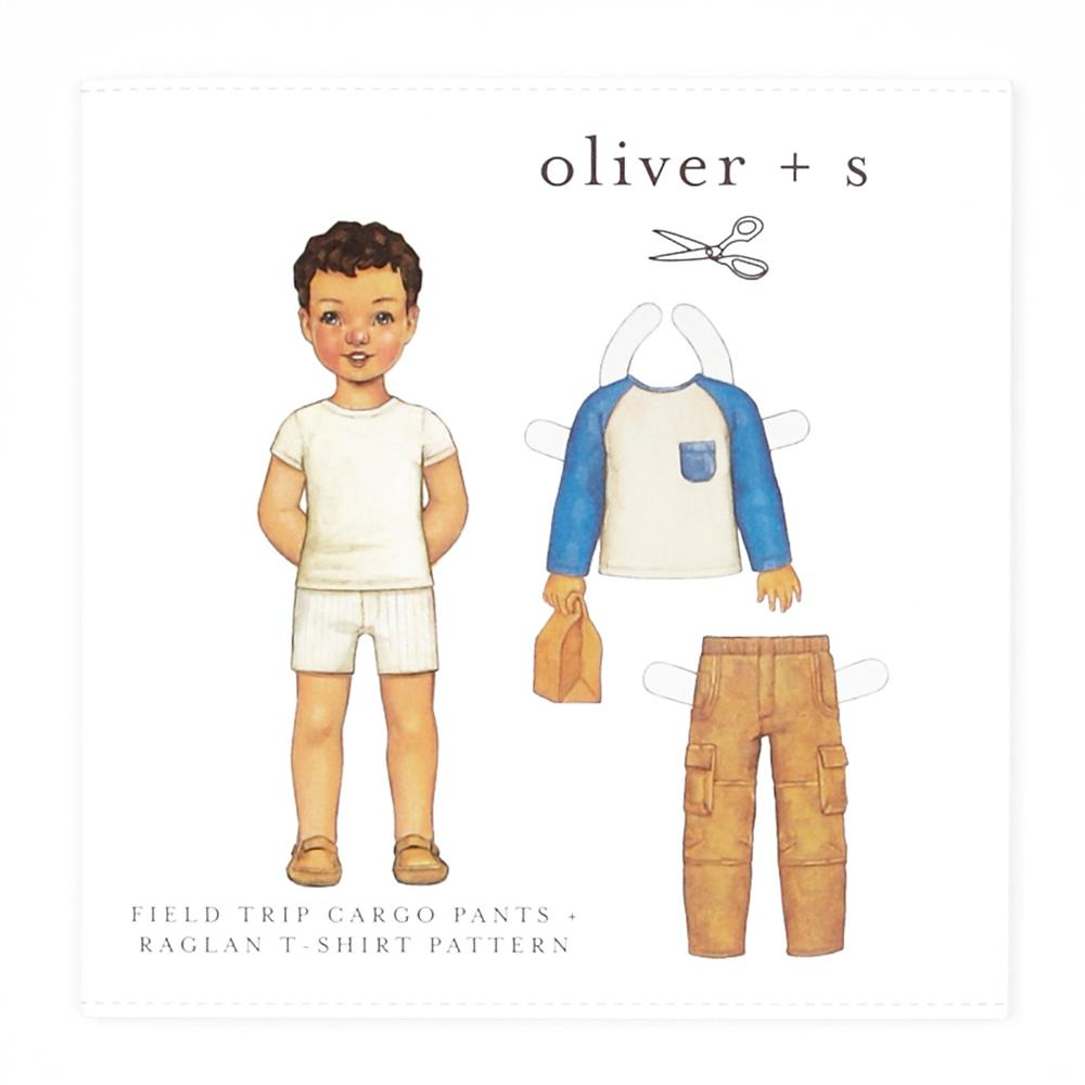 Oliver + S Field Trip Cargo Pants and Raglan T-Shirt Pattern 6m-4T