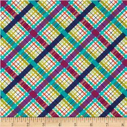 Michael Miller Norwegian Woods Too Lil Bias Plaid Jewel