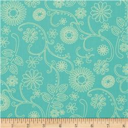 "110"" Wide Quilt Back Signature Aqua/Mint"
