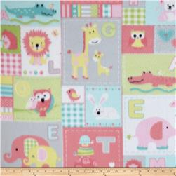 Fleece Animal ABC Patchwork Pink