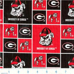 Collegiate Cotton Broadcloth University of  Georgia Bulldogs