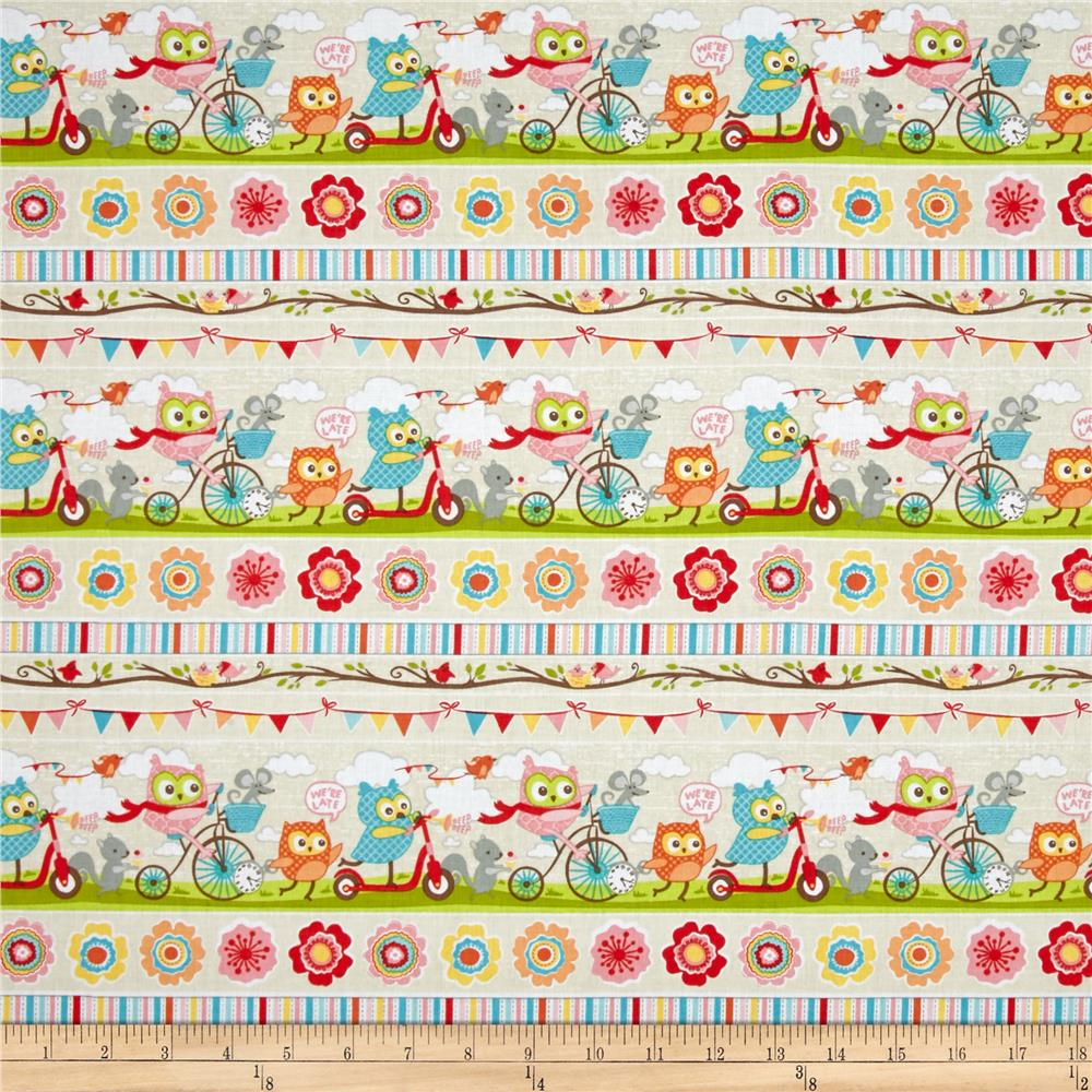 Riley Blake Tree Party Stripe Cream