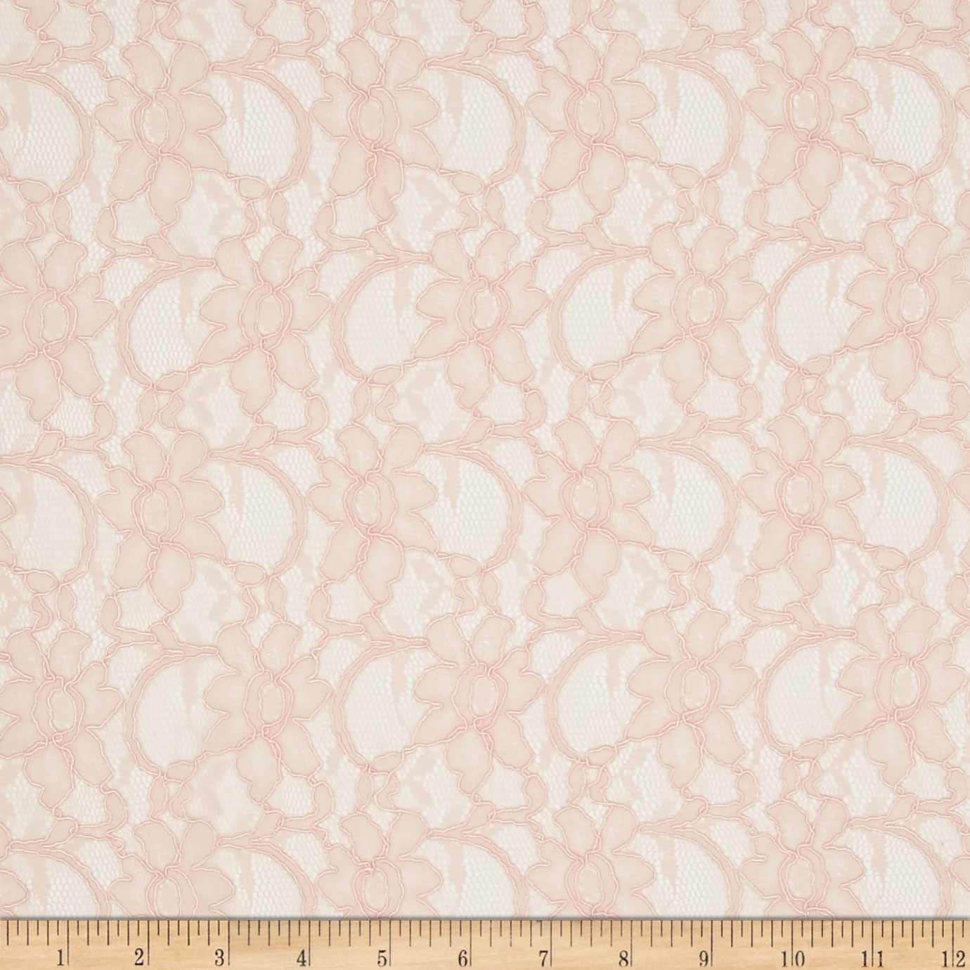 Xanna Floral Lace Light Pink Fabric