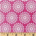 Riley Blake Lovey Dovey Laminated Cotton Lace Pink