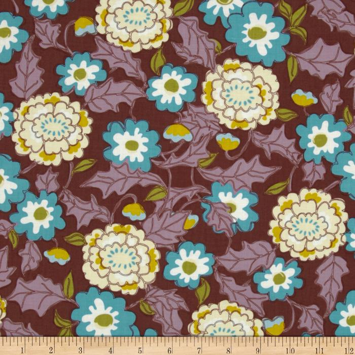 Love Grows Tossed Floral Brown