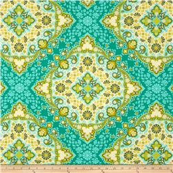 Joel Dewberry Home Decor Sateen Notting Hill Kaleidoscope Basil