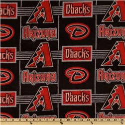 MLB Fleece Arizona Diamondbacks Red/Black/Grey Fabric