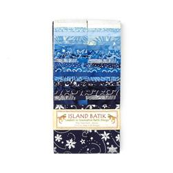"Island Batik 2.5"" Strip Pack Blue Moon"