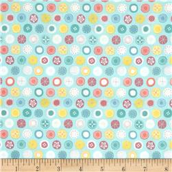 Tiny World Patterned Dots Turquoise