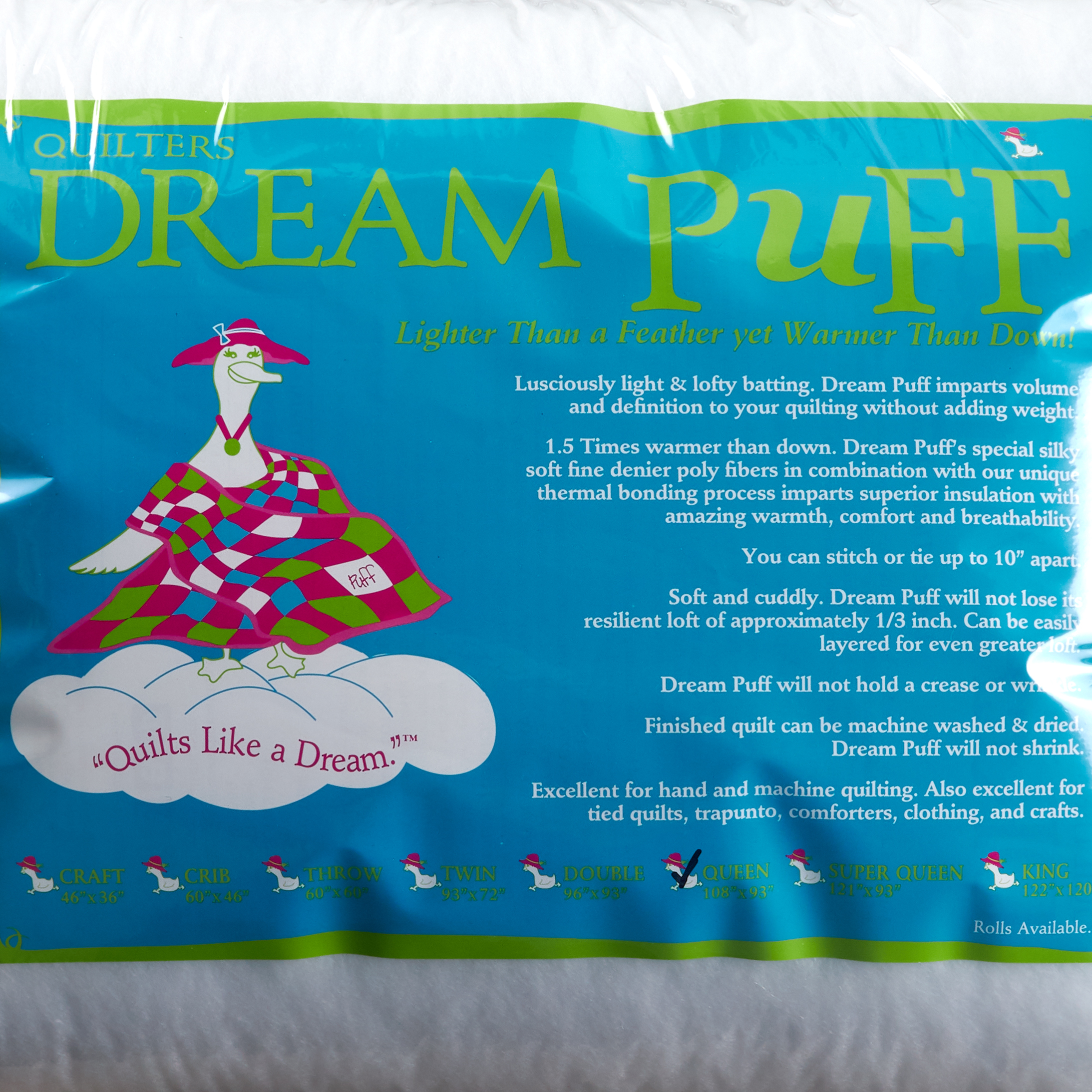 Quilter's Dream Puff Batting (108'' x 93'') Queen by Quilter's Dream in USA