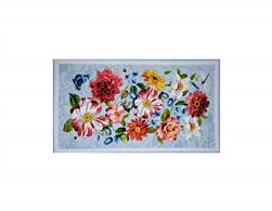 Rainbow Garden Floral 36 In. Panel Blue