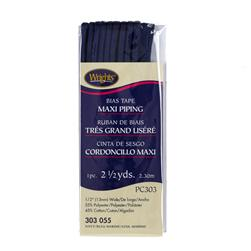 Bias Tape Maxi Cord Piping 1/2'' x 2 1/2'' Yards Navy