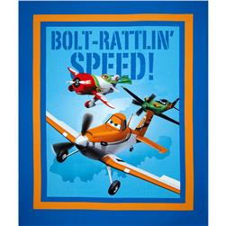 Disney Planes Let's Soar Panel Blue