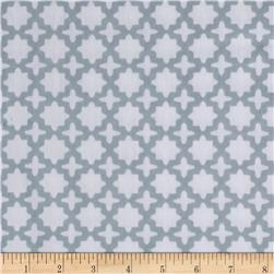 Kaufman Little Prints Double Gauze Dots Trellis Grey