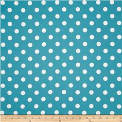 RCA Polka Dots Blackout Drapery Fabric Capri Blue