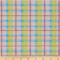 Flannel Plaid Pink Fabric
