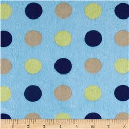 Minky 3 Way Renaissance Dots Sage/Navy/Latte