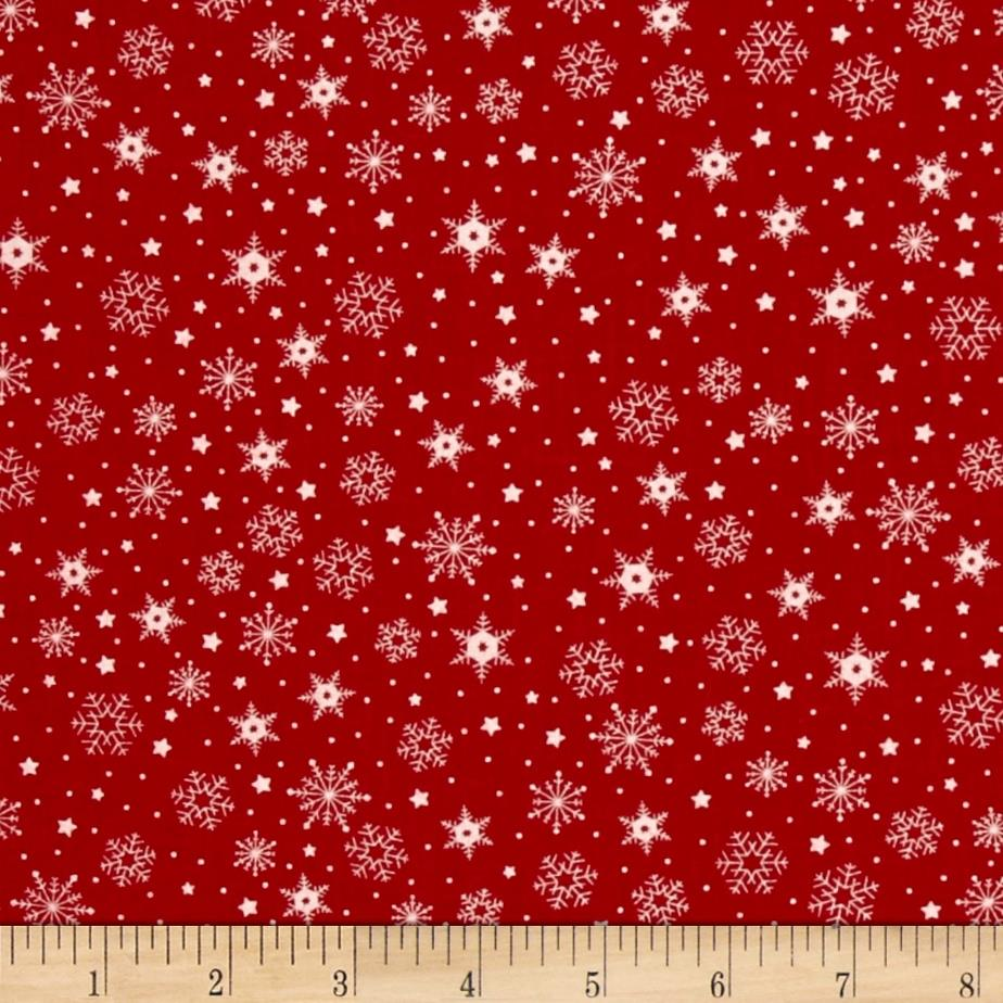 Moda The Cookie Exchange Snowflakes Red