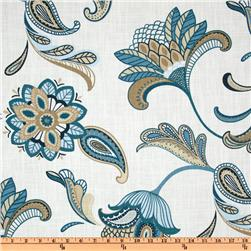 Covington Savannah Paisley Mariner Blue Fabric