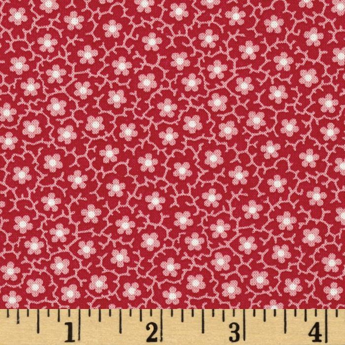 Quilts of Florence Peto Series Small Flowers & Vines Red