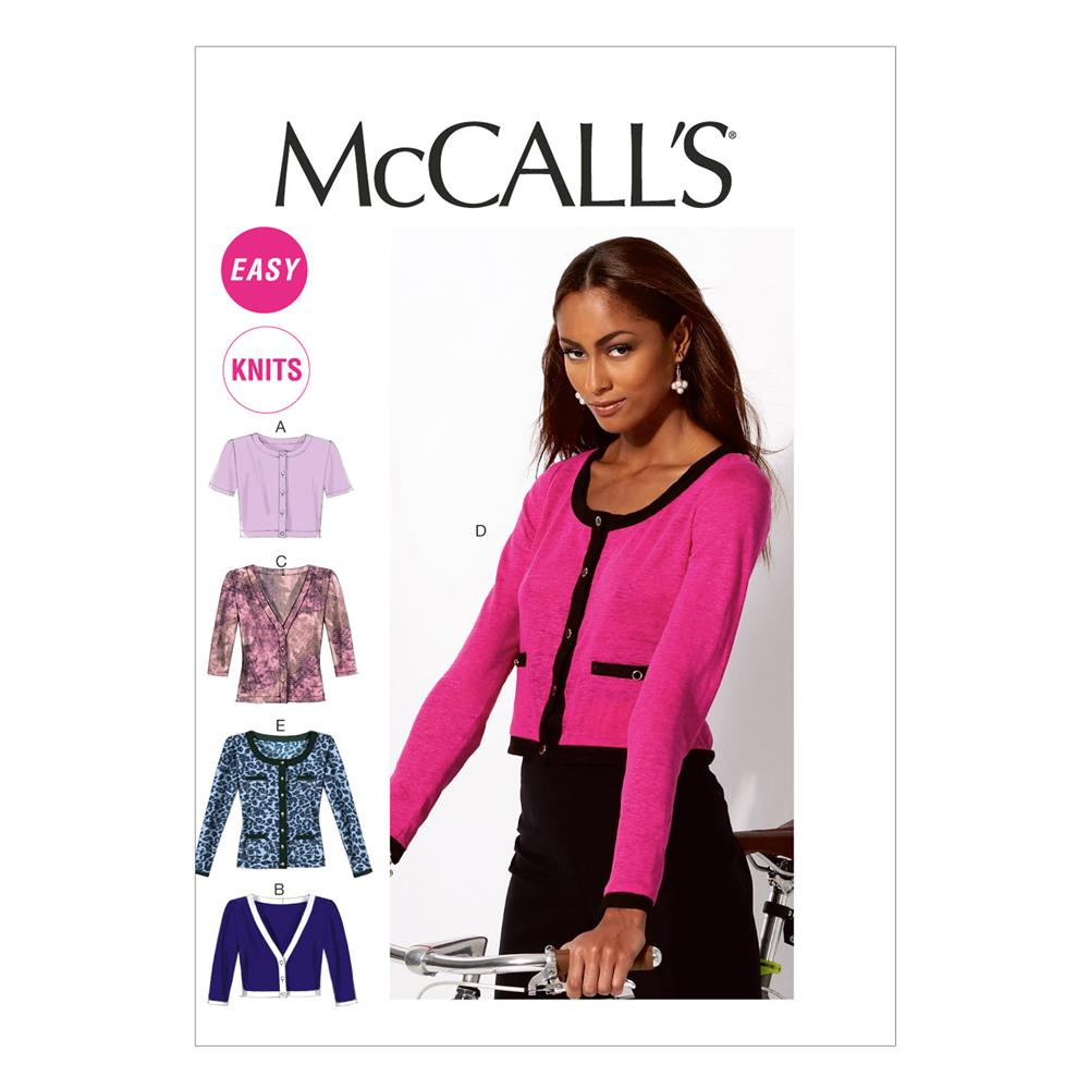 McCall's Misses' Cardigans Pattern M6708 Size 0Y0