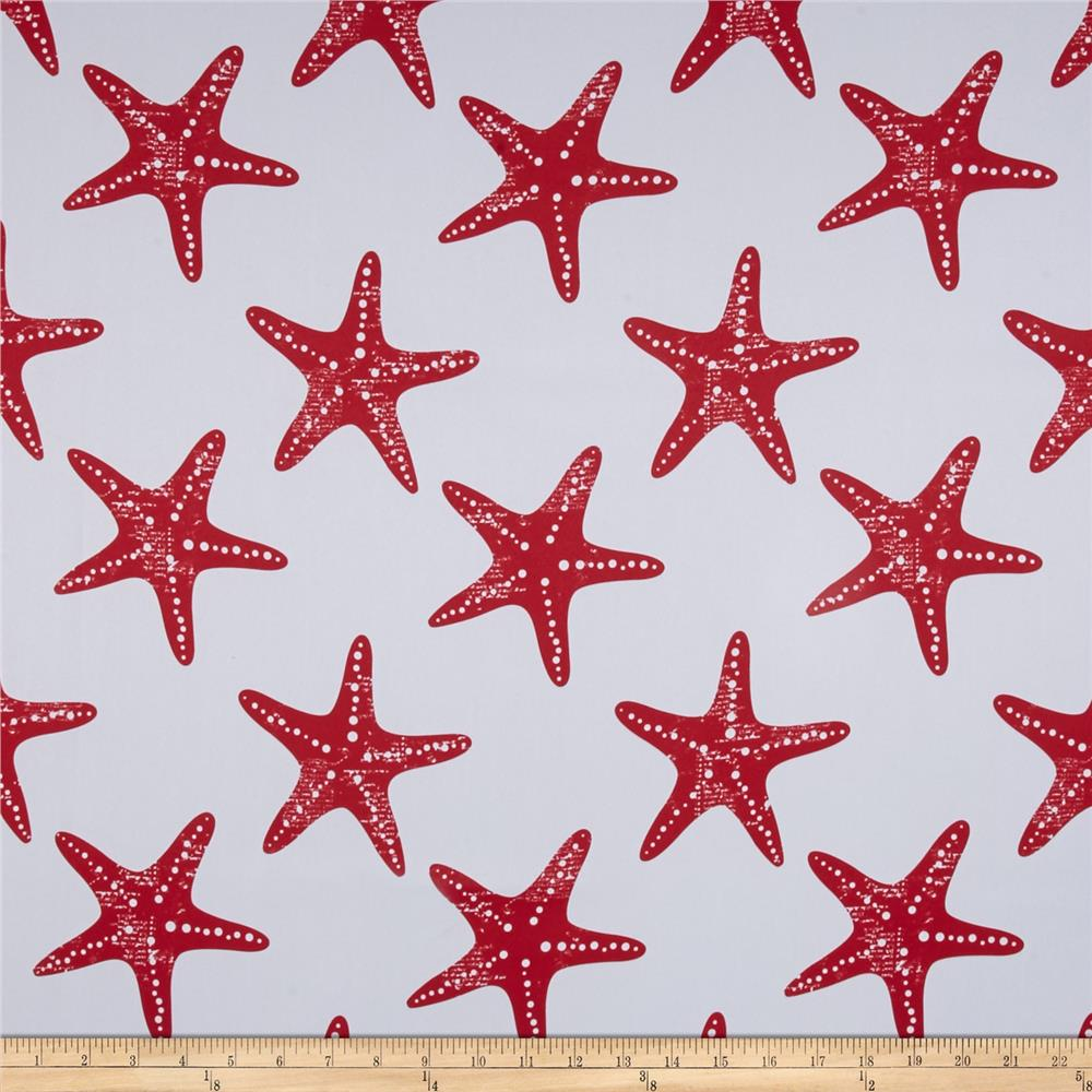 RCA Blackout Drapery Fabric Starfish Red