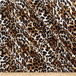 Satin Charmuese Cheetah Black/Tan