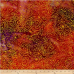Indian Batik Jewel Box Geo Red