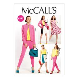 McCall's Misses' Lined Jacket, Top, Dress, Lined Skirt,