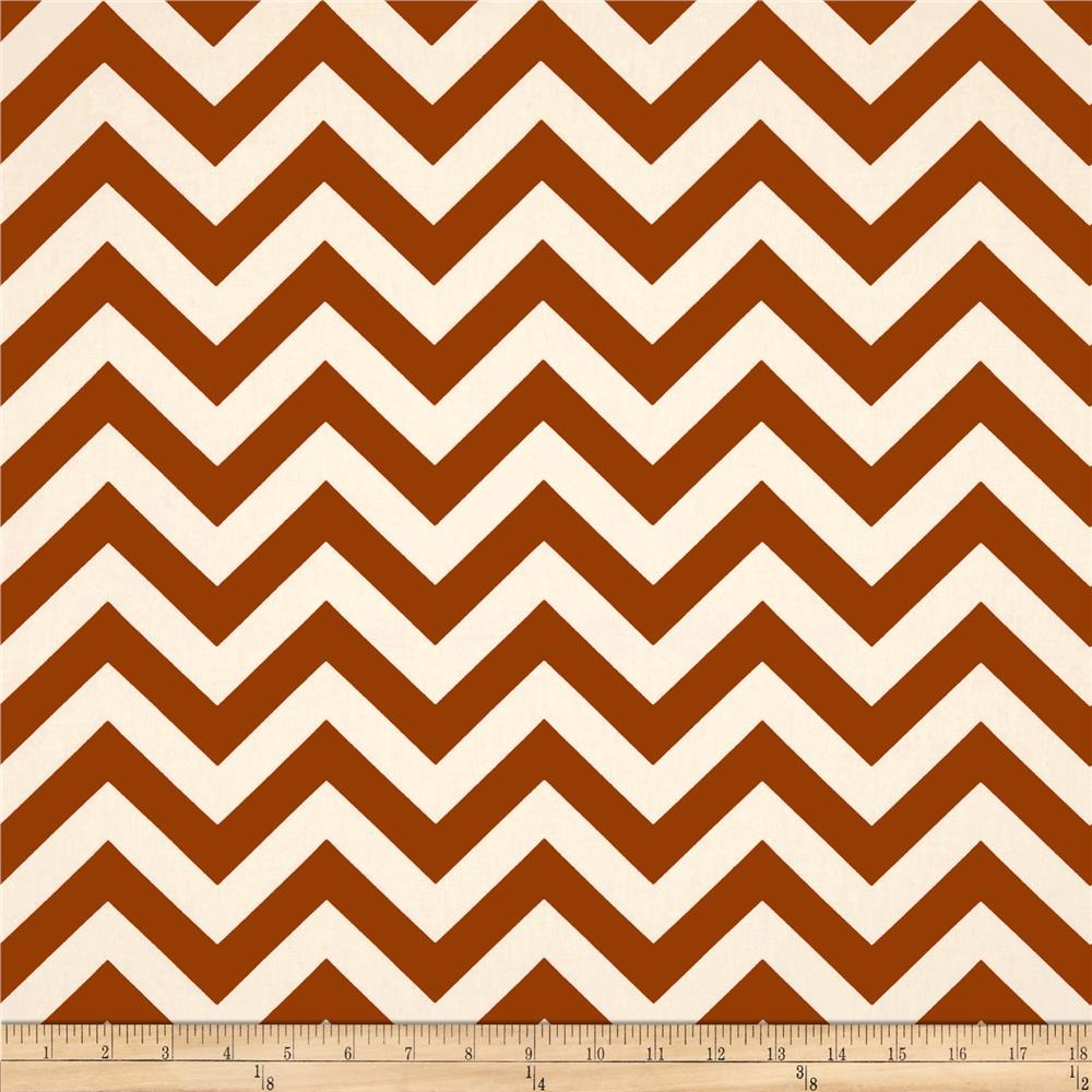 Premier Prints Zig Zag Village Rust