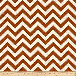 Premier Prints Zig Zag Village Rust Fabric