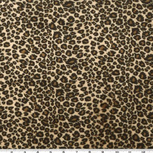 Leopard Print Fabric shannon minky cuddle cheetah tan/brown - discount designer fabric