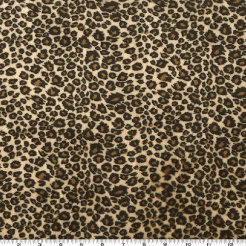 Minky Cuddle Mini Cheetah Brown/Tan Fabric