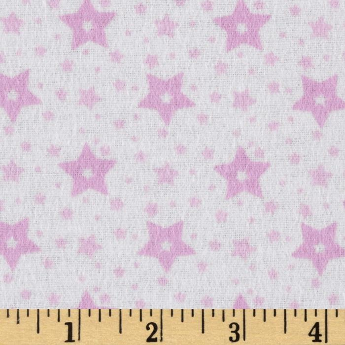 Little Nursery Flannel Sky with Stars White