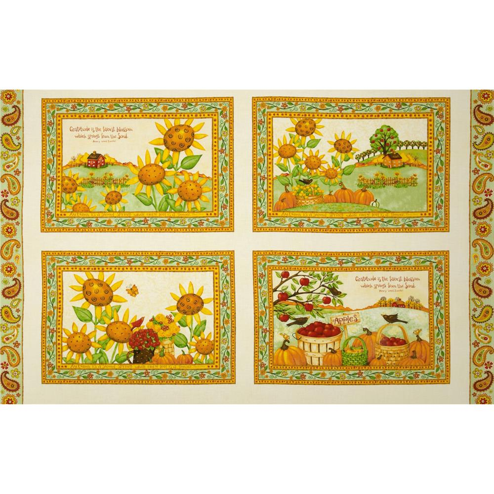 Harvest At Millbrook Farm Placemat Panel Multi