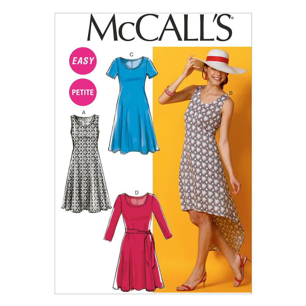 McCall's Misses'/Miss Petite Dresses and Belt Pattern M6957 Size A50