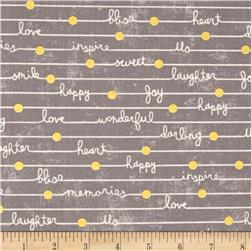 Gigi Blooms Happy Notes Gray