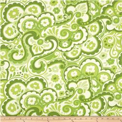 Heather Bailey Garden District Sateen Cakewalk Green Fabric