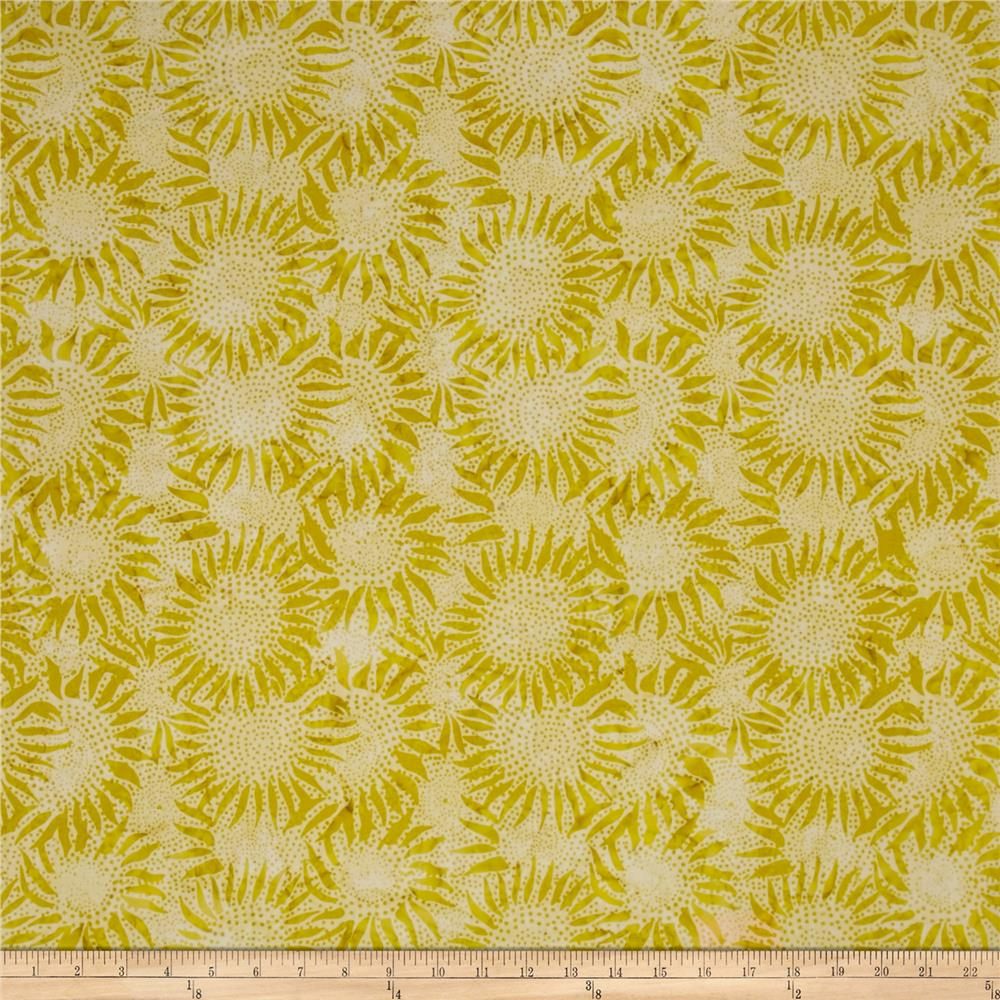 Hoffman Bali Batiks Sunflower Key Lime