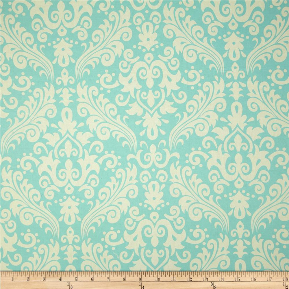 Riley Blake Home Décor Large Damask Aqua