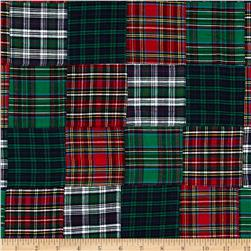 Tartan Plaid Patchwork Red/Black Fabric