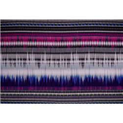 Jersey Knit Blurred Abstract Stripes Purple