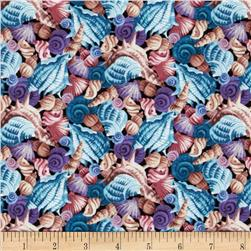 Coral Sea Seashells Blue/Multi Fabric
