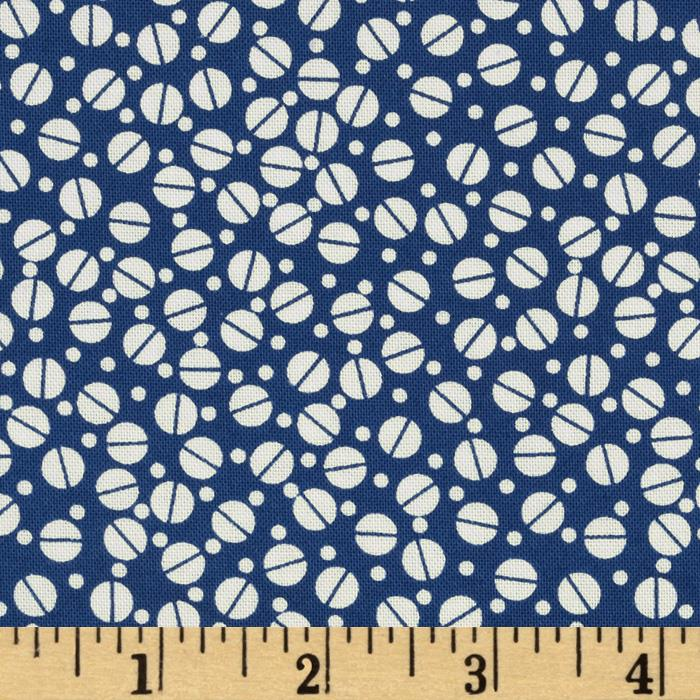 Tossed Dots Royal Blue/White