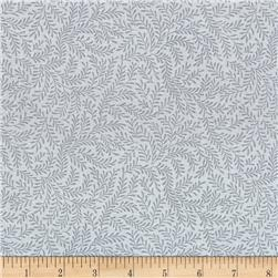 "108"" Wide Quilt Back Vine Leaf Grey"