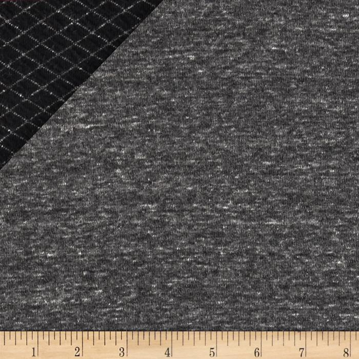 Designer Jersey Reversible Double Knit Sable/Gray
