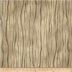 Robert Kaufman Sound of the Woods Metallic Stripe Shadow