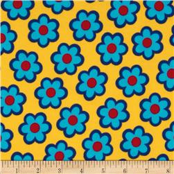 B-Bold Flannel Daisy Flower Yellow