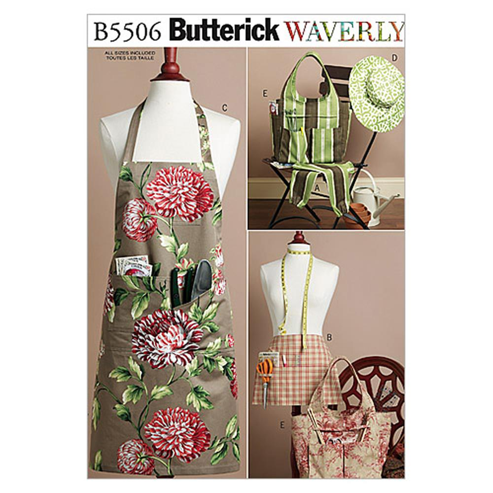 Butterick Aprons, Sleeves, Tote and Hat Pattern B5506 Size XY0